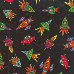 """19"""" Remnant- SpaceBots - Black Rocket Ships"""