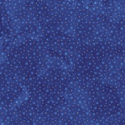 "End of Bolt - 48"" - Starry Night - Stonehenge Navy Mini Stars - by Northcott"