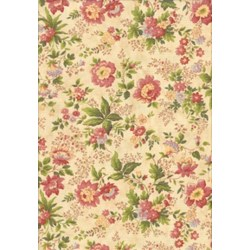 """13"""" Remmant - Sweet Romance Cream with Pink & Yellow Flowers"""