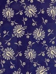"""11"""" Remnant - Vintage Indygo - Navy Buds & Flowers"""