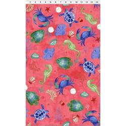 Sanibel Large Print - Raspberry by Clothworks