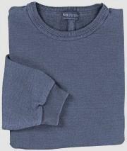 Banded Hem  Sweatshirt - 2X  Large Denim