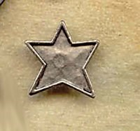 Vintage Find!  Folk Star Pewter Charm /Button <br>Medium Sized<br>by Caroyn Carpin Designs