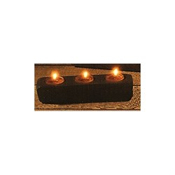 Last One!  Small Rustic Wood Tea Light  Holder