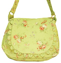 Vintage Find!  Prairie Rose - Lecien Soft Green Purse Kit