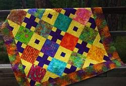 Batik Diamonds Afternoon Quilt Kit