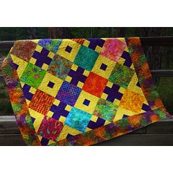 Batik Diamonds Afternoon Quilt Kit