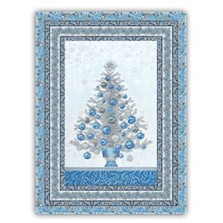 Holiday Flourish Christmas Tree Wall Hanging Quilt With Optional Deluxe Swarovski Crystal  Package