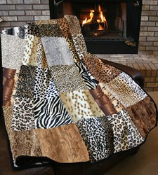 The Serengeti Snuggler Minky Jumbo King Size Quilt Kit