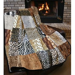 The Serengeti Snuggler Minky Queen Size Quilt Kit