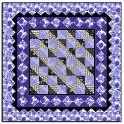 Periwinkle Charm Quilt  Pattern Download
