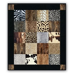 It's Back!  Our Exclusive Baby Cub Snuggler Minky Quilt Kit - Now With Even More Wonderful Animal Prints!