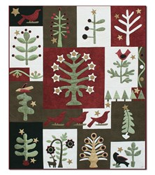 It's Back!  Festival of Trees Silk and Wool Matka Quilt Block of the Month or All at Once<br><i>Starts February!</i>