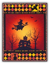 Homespun Hearth Exclusive!  Frightful Flightful Night - Complete Quilt Kit