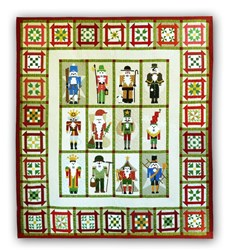 Classic Nutcracker in Batiks<br>Block of the Month<br> or All at Once Quilt Kit <br>Start Anytime!