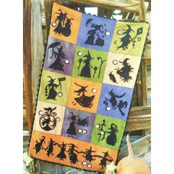 When Witches Fly 100% Hand Dyed Wool Complete Quilt Kit