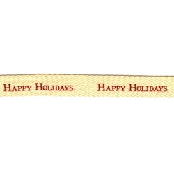 """Happy Holidays"" 5/8"" Twill Tape by Moda"