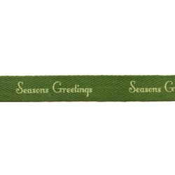 """Seasons Greetings"" 5/8"" Twill Tape by Moda"