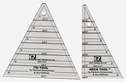 EZ Quilting - Tri-Recs Angle Ruler Set