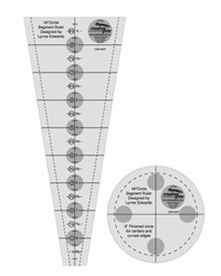 Creative Grids 18° Dresden Plate Quilt Ruler