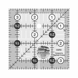 """Creative Grids 3 1/2"""" x 3 1/2"""" Ruler"""