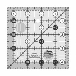 "Creative Grids 4 1/2"" x 4 1/2"" Ruler"