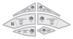 Creative Grids Diamond Wedding Ring Templates Non-Slip Rulers