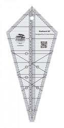 Creative Grids Starburst 30 Degree Triangle Quilt 9-1/2in Ruler