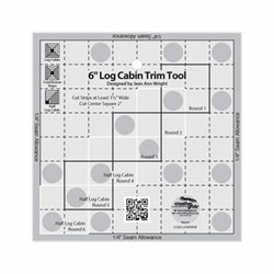 Creative Grids 6in Log Cabin Trim Tool Quilt Ruler