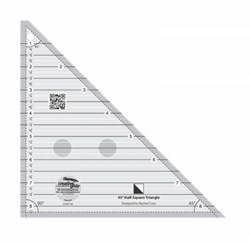Creative Grids 45 degree Half Square Triangle Ruler
