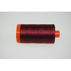 Aurifil #2460 - Mako 50 wt  Thread - Dark Carmine Red