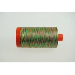 Aurifil #4650 - Mako 50 wt  Thread - Varigated Red & Green