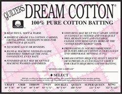 Quilter's Dream Select Natural Cotton Queen Batting