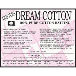 Quilter's Dream Select Natural Cotton King Batting