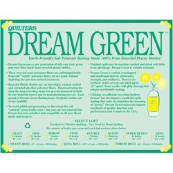 "Quilters Dream Green King Size Batting ""Select"""