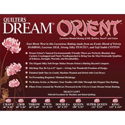 "Quilters Dream ""Orient"" Queen Size Batting"