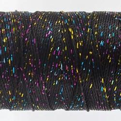 Dazzle - 450 Yard Black Metallic/Rayon 6 ply thread - Cone