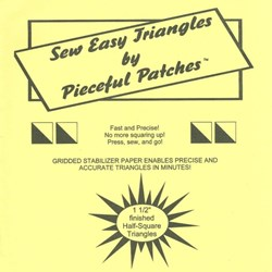 Sew Easy Triangle Templates by Pieceful Patches