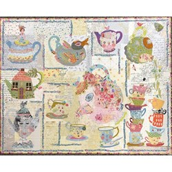 Tea Party Pattern by Laura Heine